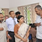 Smt. Latha Pillai and Dr. Arun Banik being welcomed to the centre