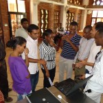 Insight team interacting with IISE students