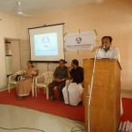 Happy Kumar addressing the audience