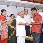 CM felicitating one of the IGNOU exam toppers