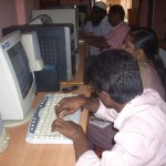 Teachers taking practical sessions
