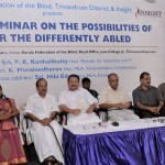 The minister, Sri Muralidharan MLA and other dignitaries on the dais